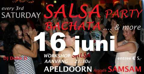 Saturday Salsa Party - 16 juni - Artcafé SamSam, Apeldoorn